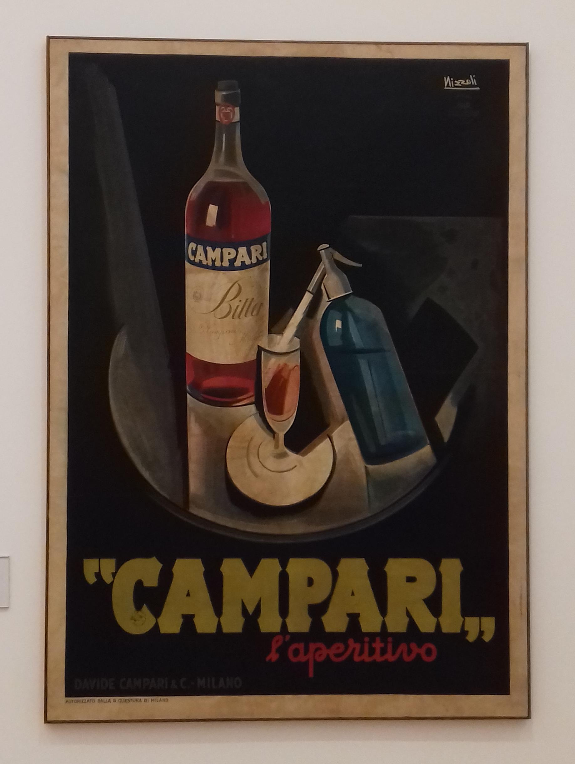 Marcello Nizzoli (1887-1969) Study for Campari, 1926. The Art of Campari, Estorick Collection of Modern Italia Art. London 2018 © Paola Cacciari