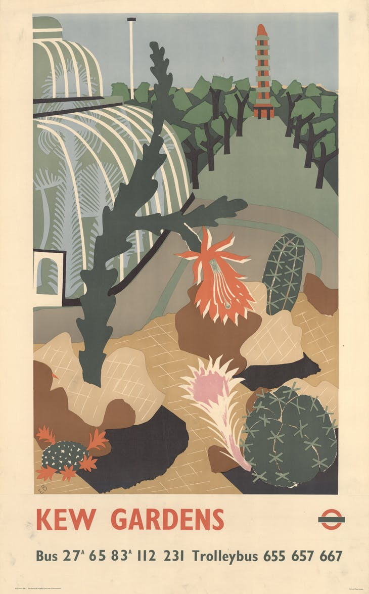Edward Bawden, Kew Gardens London Transport poster, 1939, © TfL from the London Transport Museum collection Estate of Edward Bawden