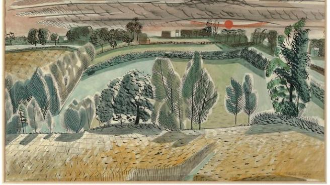 Edward Bawden, Textile Study, 1950s, Watercolour, Private Collection Estate of Edward Bawden