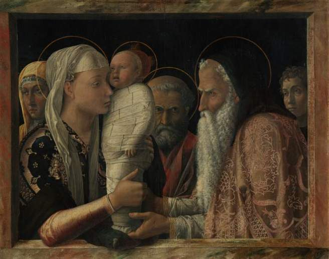 Andrea Mantegna, 'The Presentation of Christ in the Temple', about 1454 (Staatliche Museen zu Berlin, Gemäldegalerie/ Christoph Schmidt)
