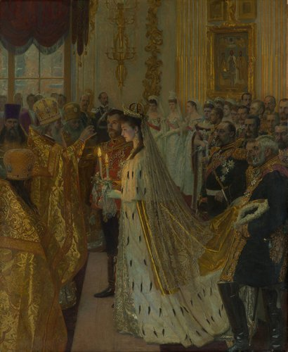 Laurits Regner Tuxen, The Marriage of Nicholas II, Tsar of Russia, 26th November 1894