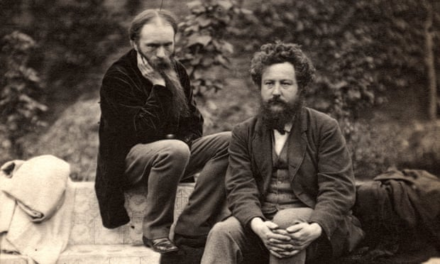 Photograph of Edward Burne-Jones (left) and William Morris (right) at the Grange in 1874. Photograph: National Portrait Gallery in London