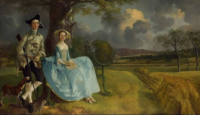 Thomas Gainsborough, Mr and Mrs Andrews (about 1750) The National Gallery, London