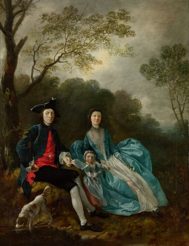 The Artist with his Wife Margaret and Eldest Daughter Mary by Thomas Gainsborough, c1748. Photograph © The National Gallery, London