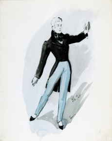 Poet, costume design for The Night Shadow, a ballet by George Balanchine 1945