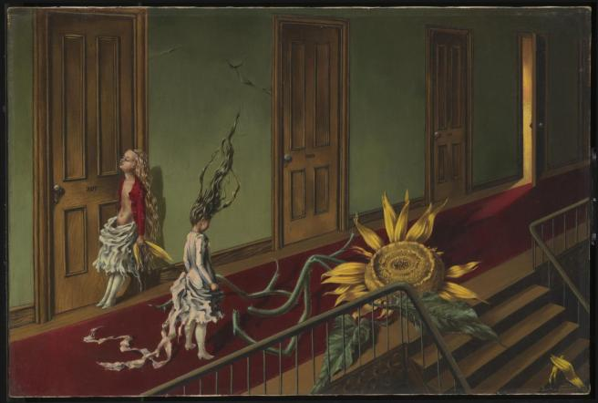 Eine Kleine Nachtmusik 1943 by Dorothea Tanning 1910-2012, Purchased with assistance from the Art Fund and the American Fund for the Tate Gallery 1997