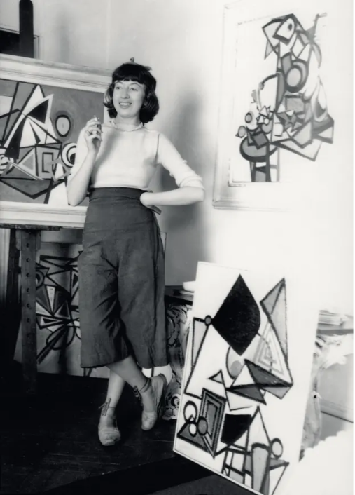 Lee Krasner in her New York studio, c 1939: 'She didn't suffer fools.' Photograph: Photograph by Maurice Berezov. Copyright A.E. Artworks, LLC.