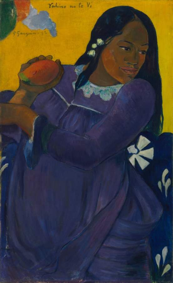 Gauguin's Woman of the Mango. Photograph Baltimore Museum of Art