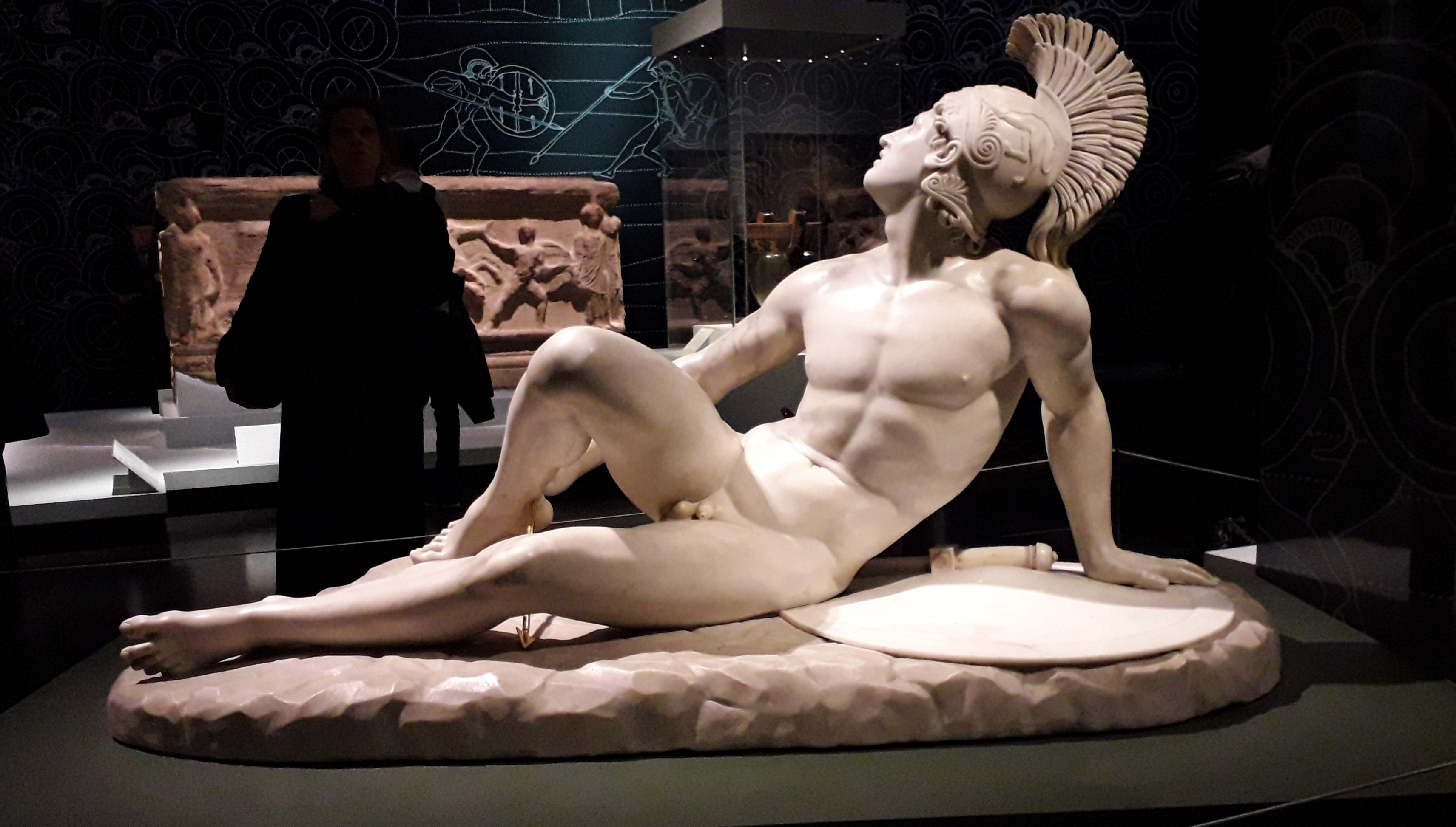 The wounded Achilles, 1825. British Museum, Troy exhibition. London 2020 ©Paola Cacciari