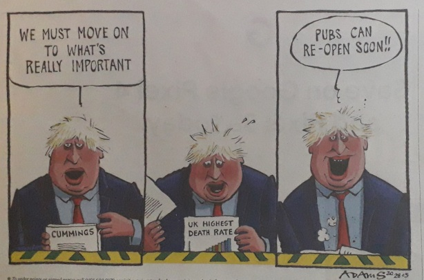 Political cartoon from the London Evening Standard 2020 ©Paola Cacciari